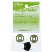 Clover Bag Closure - Magnetic Snap Fastening - Black Nickel - 3/4""